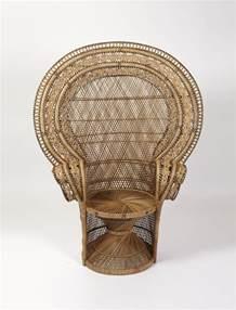 stuhl korbgeflecht peacock wicker chair
