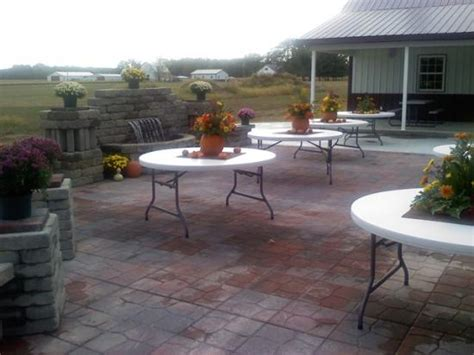 Patio Setup by Wedding Pictures Setups Castle Finn Winery