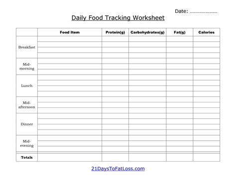 printable food diary form 7 best images of printable daily food log sheet