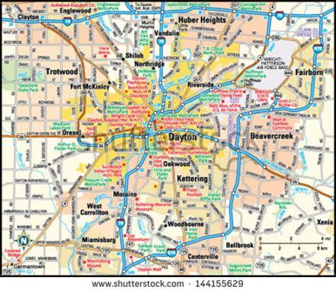 map of oregon district dayton ohio dayton free vector 4vector