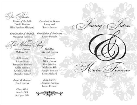 wedding program cover templates free wedding program templates 9 free psd vector ai