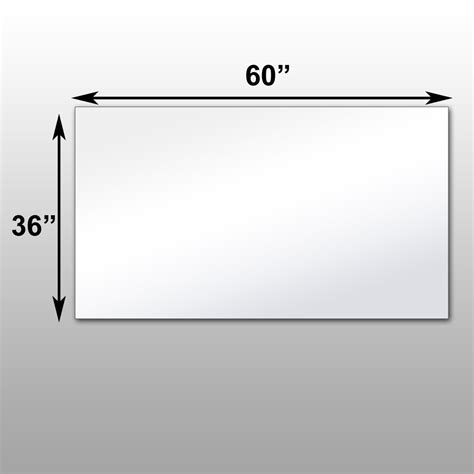 36 X 48 Bathroom Mirror 36 X 48 Bathroom Mirror 36 X 48 Bathroom Mirror Mirrorlite 174 Pfs Optical Grade Glassless
