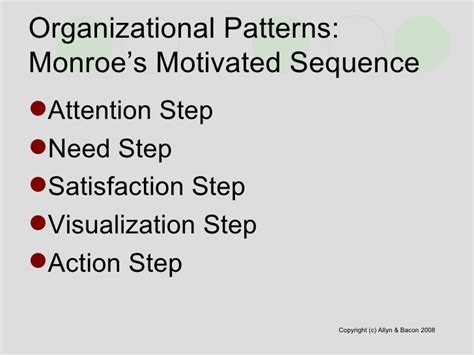 monroe motivated sequence pattern of organization chapter9
