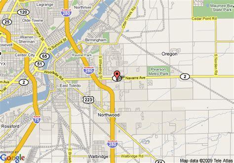 map of oregon ohio map of inn express toledo oregon oh oregon