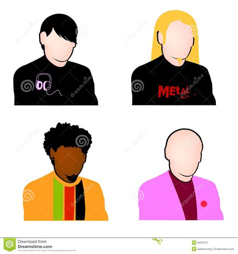 musical fans org free music fans avatar set vector royalty free stock