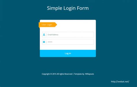 login form html5 template 66 responsive design for html5 css3 login form templates