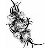 Lipby Blogs Exotic Flowers Tribal Tattoo Design