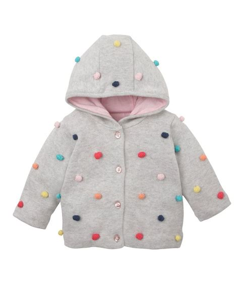 Sweater Garis Mothercare mothercare lined hooded bobble cardigan jumpers