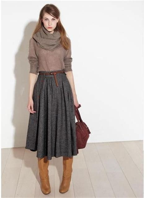 midi skirts for work and office wear ideas 2018