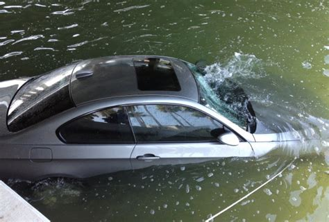 water car listens to g p s and drives into river