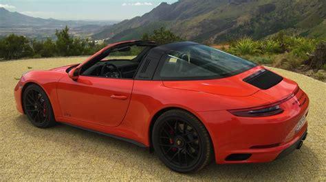 porsche 911 gts spoiler 2017 porsche 911 targa 4 gts driving exterior interior