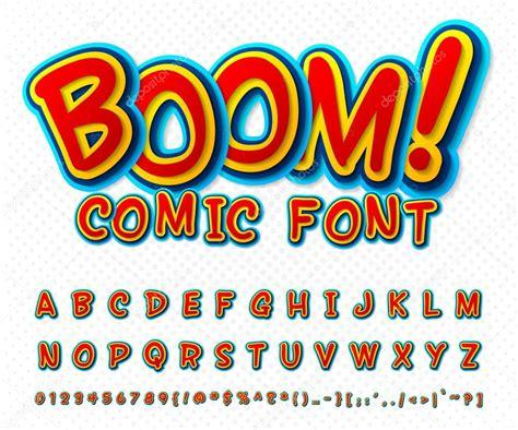font pop art creative comic font vector alphabet in style pop art