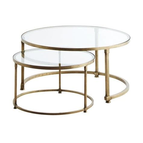 raz 25 quot gold circle nesting tables home decor home 25 best ideas about glass coffee tables on pinterest