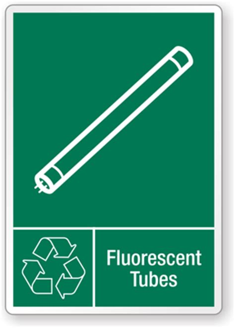fluorescent graphic recycling label
