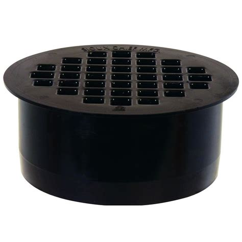 4 in black abs snap in drain 845 4apk the home depot