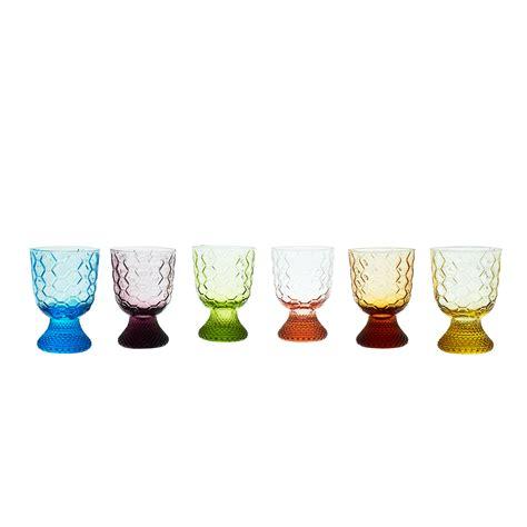 bicchieri in vetro soffiato set 6 calici vetro soffiato decorato coincasa