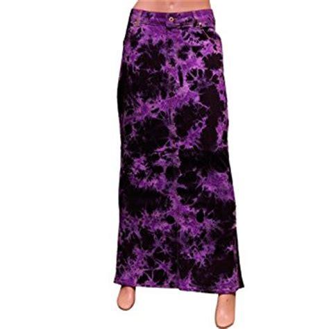 clove purple blue tie dye denim maxi pencil skirt