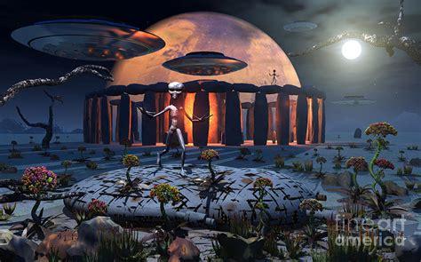 Android App Ideas alien explorers on an alien world digital art by mark