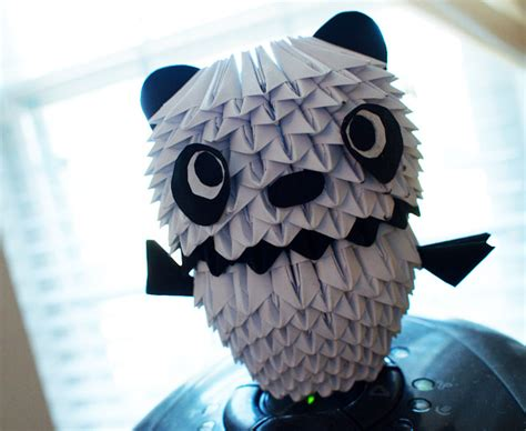 Origami 3d Panda - 3d origami panda by gracy2227 on deviantart