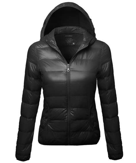 light puffer jacket with hood women s outdoor warm lightweight hood goose feather puffer