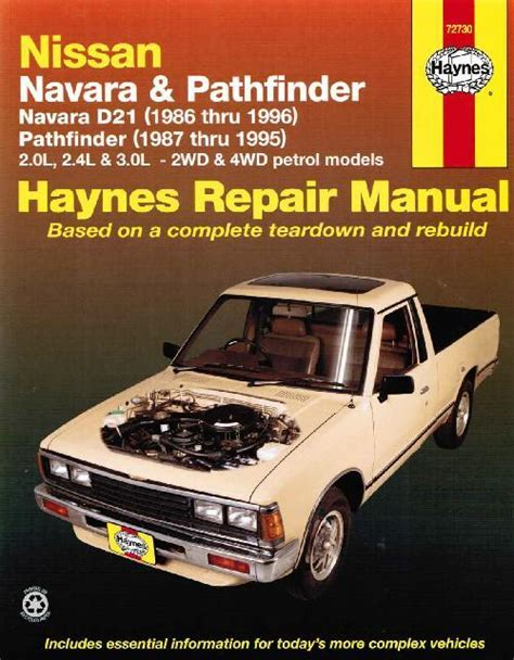 service repair manual free download 2000 nissan pathfinder instrument cluster nissan navara d21 pathfinder 1986 1996 haynes owners service repair manual 156392644x