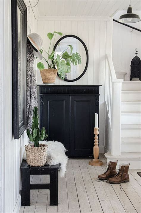 Swedish Homes Interiors by Stylish Monochrome Living Room Inspiration With Greenery