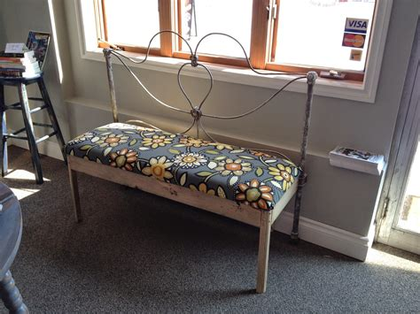 bench made from old bed frame macgirlver rusty antique wire bed frame made into a bench