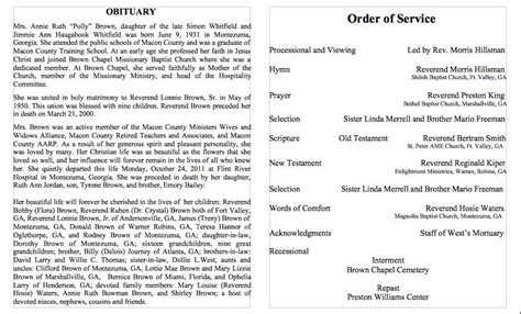 25 free obituary templates and sles free template