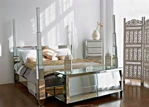 the prysm mirrored four poster bed eclectic canopy