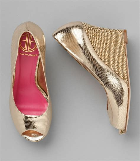 Wedges Simple Moka 1 lilly pulitzer gold wedge comfy for reception without
