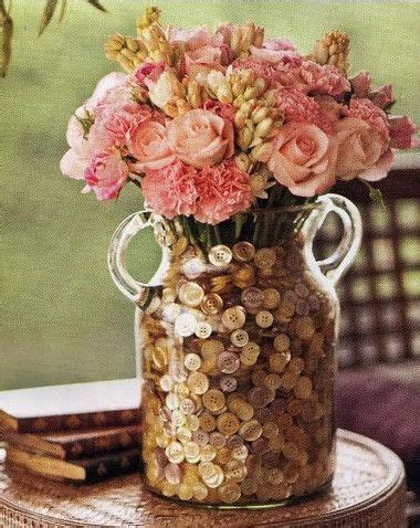 Cheap Vase Filler Ideas by Cheap And Easy Diy Vase Filler Buttons What A Great