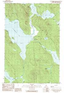 map of east lakes caucomgomoc lake east topographic map me usgs topo