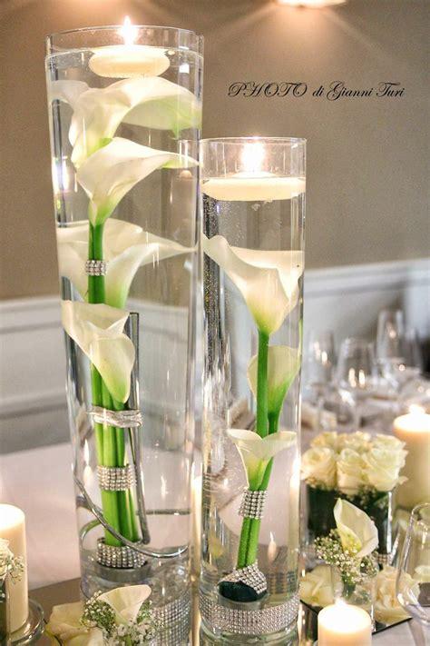 composizioni floreali con candele cilindri con candele e stress candele e centrotavola