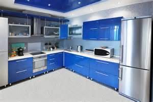 Peninsula Kitchen Design Zimne Kolory Niebieski Szary Fiolet Kolorystyka