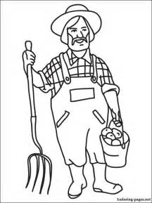 Coloring Page With The Farmer  sketch template