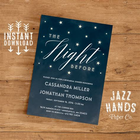 rehearsal dinner invitation template diy wedding