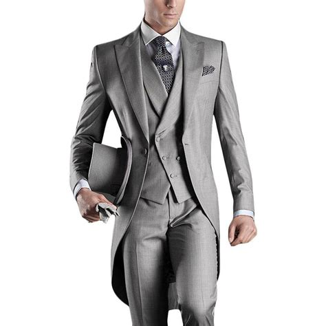italian wedding suits for groom new arrival italian tailcoat gray wedding suits for