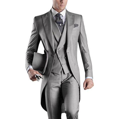 New arrival italian men tailcoat gray wedding suits for men groomsmen