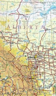 alberta canada map images