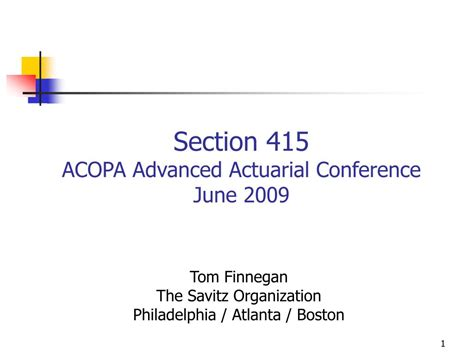 section 415 limits ppt section 415 acopa advanced actuarial conference june