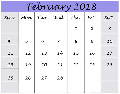 printable monthly calendar with design february 2018 latest calendar designs download printable