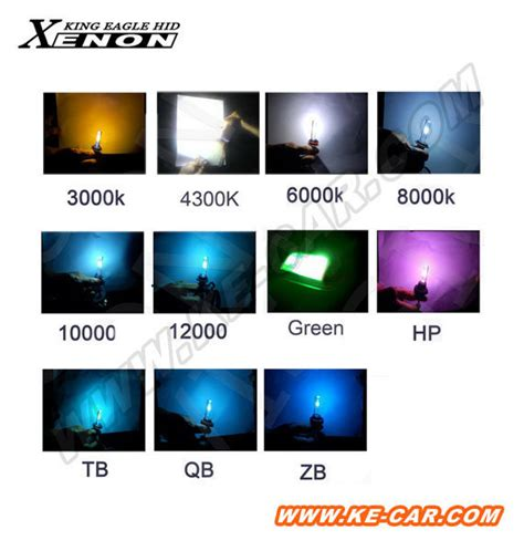 hid color xenon bulb colors