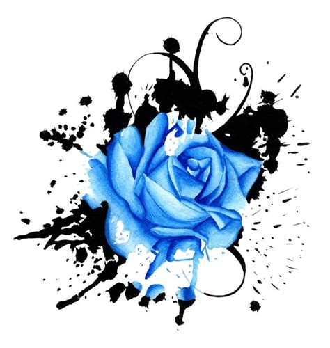 trash polka rose tattoo polka trash drawings splash of blue by 13leelee