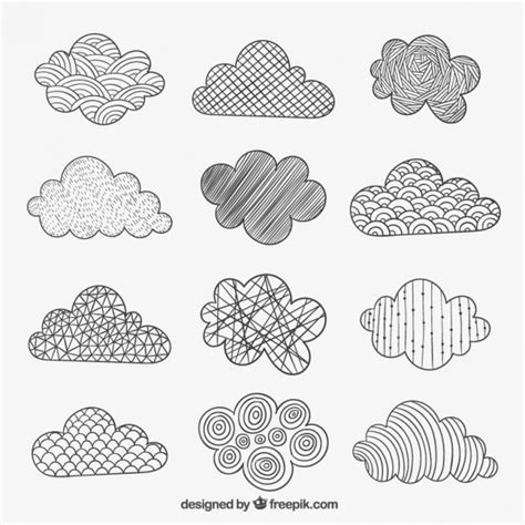 doodle drawing vector doodle cloud vectors photos and psd files free