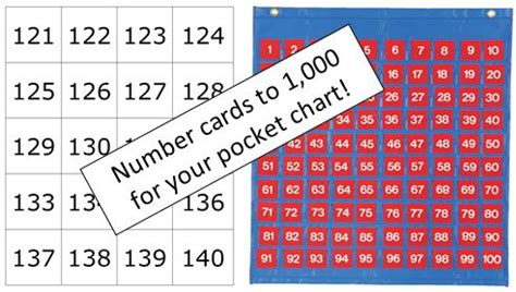 printable numbers for 100 pocket chart math coach s corner
