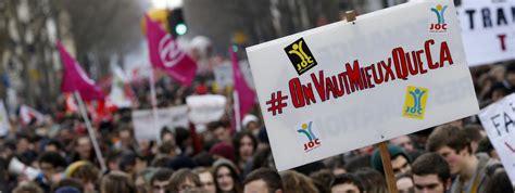 la france contre les b06xf2b471 manifestations contre la loi travail dix slogans qui ont marqu 233 les cort 232 ges