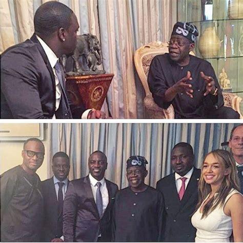 Akon Simulates With A Fan by Photos Akon Visits Former Lagos Governor Bola Tinubu