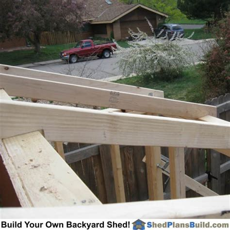 Cutting Roof Rafters For A Shed Roof by Lean To Shed Plans