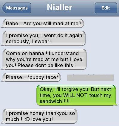 funny text messages bf/gf | how to make your bf/gf forgive