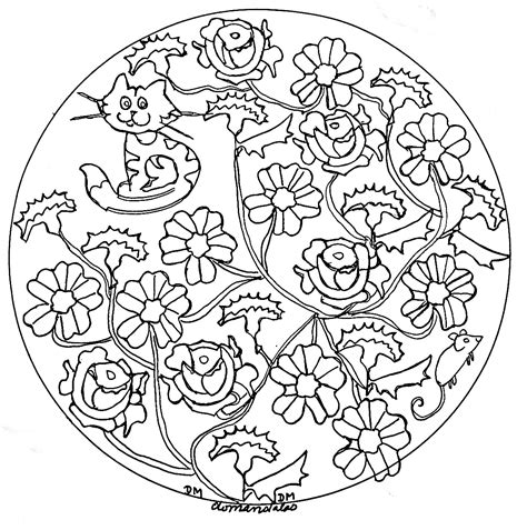 mandala coloring pages roses mandala domandalas roses and cat mandalas coloring